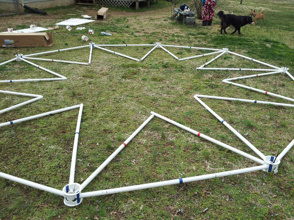 Geodesic kit dome kits made from pvc pipe